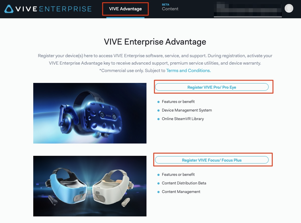 How can I access or use the Enterprise Content Platform? – VIVEPORT